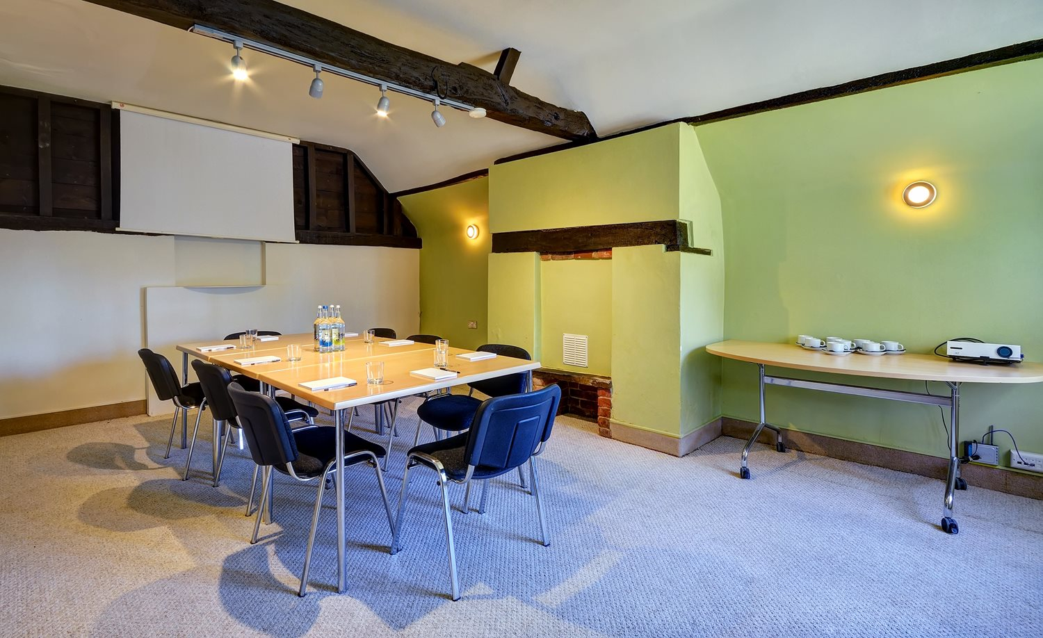 The characterful Cottage Boardroom can seat up to 15
